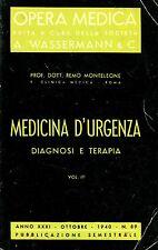 Wassermann Dott. R. Monteleone OPERA MEDICA MEDICINA D'URGENZA DIAGNOSI TERAPIA
