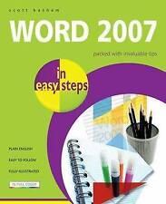 Word 2007 In Easy Steps, Basham, Scott, Very Good condition, Book