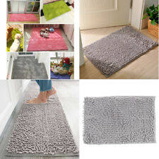 Shaggy Chenille Bath Mat Bathroom Shower Rug Water Absorbent Floor Carpet
