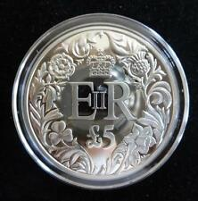 2012 SILVER PROOF GOLD PLATING GUERNSEY £5 COIN QUEEN'S DIAMOND JUBILEE