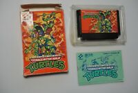 Nintendo Famicom Teenage Mutant Ninja Turtles boxed Japan FC game US Seller