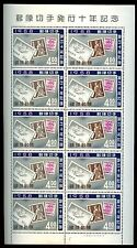 Ryukyu Islands 1958 Stamps 10th Anniv MNH Sheet #S521
