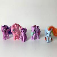 My Little Pony Lot of 5 -2 Poseable twilight sparkle rainbow dash pinkie pie