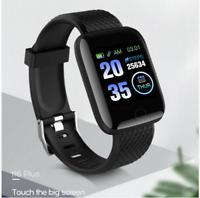 Smartwatch Armband Fitness Tracker Pulsuhr Blutdruck Uhr Wasserdicht IP67 DE