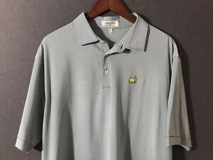 Peter Millar Men's Masters Augusta National Green Striped Polo Shirt Size XL
