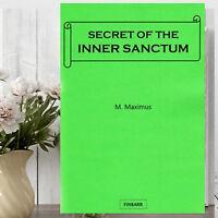 Finbarr Books Secret of The Inner Sanctum/Gnosis/Spiritual Power/Magic Booklet