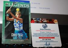 Autographed Tennis Sports Trading Card with COA Chris Evert SI Legends