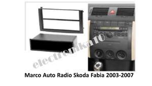 urgente Marco de montaje Soporte auto-radio Skoda Fabia 2003 - 2007 1 o 2din
