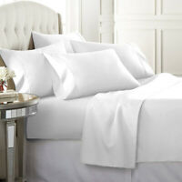 Top Hotel Quality 400TC Thread Count Flat Sheet 100% Egyptian Cotton White King