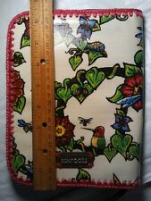 SAKROOTS TRUE LOVE TABLET COVER. ORGANIZER.. HUMMINGBIRD FLORAL. ZIP CLOSURE