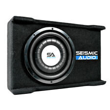 """Shallow Mount 10"""" 500 Watt Car Truck Audio Subwoofer Enclosure for Tight Spaces"""