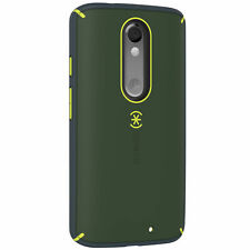 Speck Mightyshell Case Motorola DROID Turbo2 Dusty Green Yellow Charcoal Grey