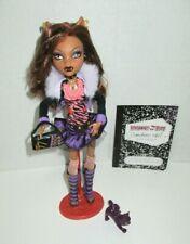 Monster High Clawdeen Wolf First Wave Doll Pet Crescent Stand Book Mattel