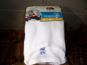 FRUIT OF THE LOOM BOYS THERMAL UNDERWEAR SET SIZE LG 10-12 WHITE SHIRT AND PANTS