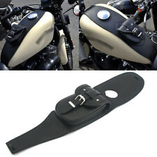 Black Real Leather Fuel Gas Tank Bag w/  strings For Harley Sportster XL883