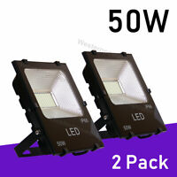 2 Pack Landscape Wall Light 50W LED Security Flood Light 300W Halogen Bulb Equiv