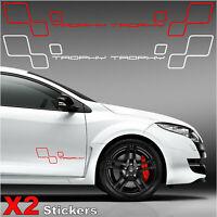 Stickers Renault megane 3 RS TROPHY renault sport - X2 Autocollants latéral -