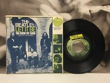 "THE BEATLES - LET IT BE / YOU KNOW MY NAME  7"" 45 GIRI EX/EX MISPRINT ITALY 1970"