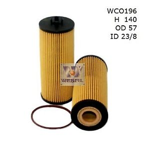 WESFIL OIL FILTER FOR Mercedes Benz A45 AMG 2.0L 2013 07/13-on WCO196