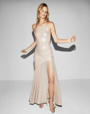 NEW EXPRESS PINK HALTER NECK SATIN MAXI DRESS $128 SIZE LARGE L