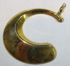 Pendentif demi lune créole doré – usagé