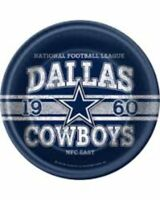 "NFL PLATES DALLAS COWBOY FOOTBALL 9"" Plates, 8/pkg  Party Supply      6/6C"