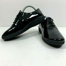 FitFlop Womens Size 8 US 42 EUR F-Pop Oxford Sneakers Shiny Black Shoes