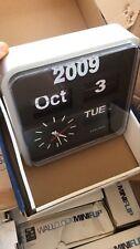 Karlsson Mini Flip Wall Clock - Matt Silver