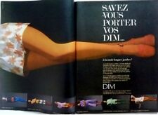 DIM PANTYHOSES / 2 pages 1971 vintage FRENCH print ad CLIPPING !! HOSIERY TIGHTS