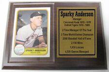 Detroit Tigers Sparky Anderson Fleer Baseball Card Plaque