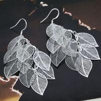 ASAMO Damen Ohrhänger Blatt Ohrringe 925 Sterling Silber plattiert O1214