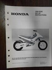 Vintage Honda Factory Set-Up Instructions Manual 1994 EZ90 6296-9307