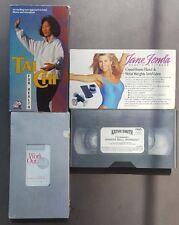 Tai Chi For Health Jane Fonda Crossfit Hand Weights Kathy Smith Ball  4 VHS