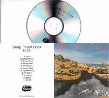 DEEP THROAT CHOIR Be OK 2017 UK 11-track promo test CD Bella Union