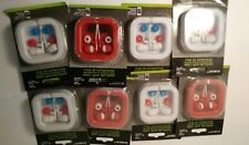 (4)Earbud Earphones with Carrying Colorful Cases E-CIRCUIT