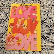 Vintage Greeting Card Birthday Love Kids Dog Letters