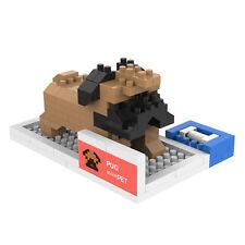 Pug - ANSBRICK BLOCK PET.6. Building, Learning - Nanoblock compatible
