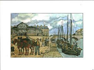 Fac-similé d'aquarelle de J. Bruneau Nantes du bon vieux temps planche no 26