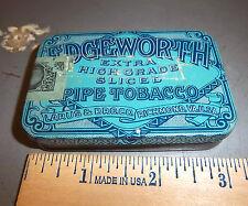 VINTAGE Edgeworth 3 x 2 x 1/2 inch tobacco tin, great colors & graphics