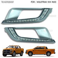 LED DRL Fog Lamp Daytime Running Light For Ford Ranger T6 Mk2 Wildtrak 2016 2017