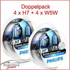 2x Philips BlueVision DUO ultra 2x H7 4000k Xenon Effekt + 2x W5W BVU 12972BVU `