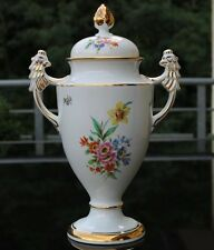 ART Deco PORCELLANA COPERCHIO ANFORA per 1920!!! Floreale pittura a mano!!!