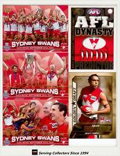 2005 Select AFL Sydney Premiership Limited Edition 4-Card Set+ Predictor Card