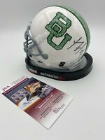 Xavien Howard Signed Baylor Bears Camo Logo Schutt Mini Helmet JSA and Photo