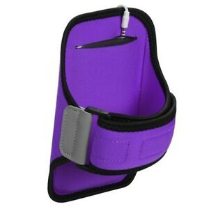 Large Vertical Pouch Sports Arm Band Phone Holder Mobile Device Cell - Purple