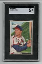 1952 Bowman #196 Stan Musial (HOF) St. Louis Cardinals - SGC 5 EX