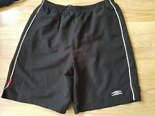 MENS UMBRO SHORTS BLACK SIZE L