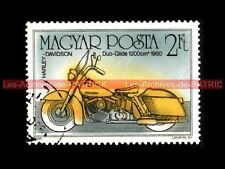 HARLEY DAVIDSON Duo Glide 1200 1960 MAGYAR POSTA HONGRIE Moto Timbre Philatélie