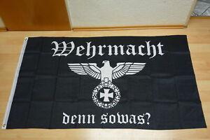 Fahne Flagge Deutsches Reich Wehrmacht denn sowas - 90 x 150 cm