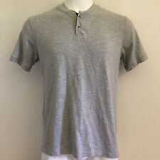 Lucky Brand Mens Shirt L Grey Label Henley Softest Knitwear Odor Control Solid